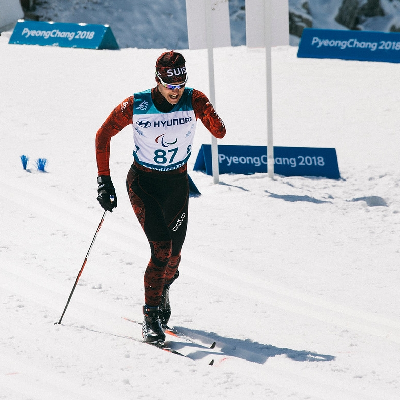 Luca Tavasci an den Paralympics in Pyeongchang (Foto: Michael Fund / Swiss Paralympic)